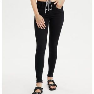 American Eagle super stretch black jeggings